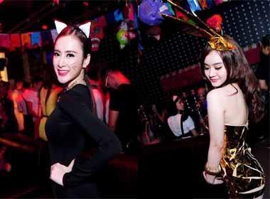 Angela Phương Trinh và em gái hoá 'miêu nữ' gợi cảm trong bar
