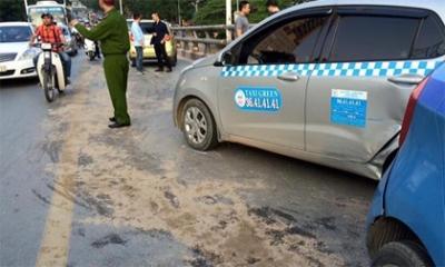 Hà Nội: Tai nạn liên hoàn trên cầu vượt Láng Hạ - Lê Văn Lương
