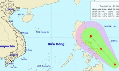 Áp thấp nhiệt đới hướng vào Biển Đông