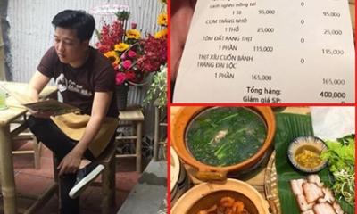 Nhà hàng của Trường Giang tố khách hàng đặt điều về mâm cơm 'đắt đỏ'