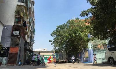 Chung cư ở trung tâm Sài Gòn bị nghiêng, dân di dời khẩn cấp trong đêm