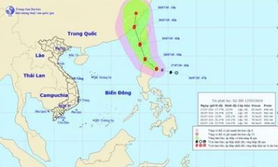 Bão Danas giật cấp 11 sắp tiến vào biển Đông, khả năng tiếp tục mạnh thêm