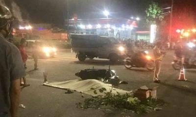 Bố tử vong sau khi cố đẩy con gái ra khỏi bánh xe container