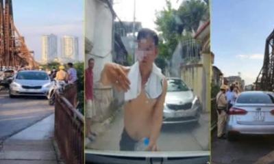 Tài xế say xỉn lái ô tô vào cầu Long Biên gây 'náo loạn' bị xử phạt 45 triệu đồng