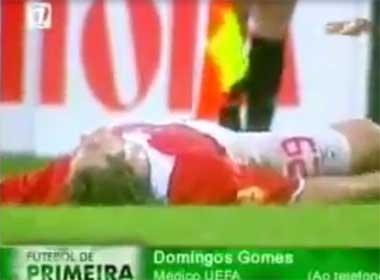 Video tiền đạo Benfica bất ngờ tử vong sau khi nhận thẻ vàng
