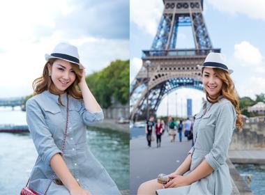 Hoa  hậu châu Á tại Mỹ 2014 xinh đẹp du ngoạn nước Pháp