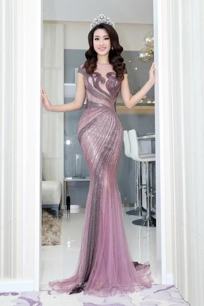 Hoa hậu Mỹ Linh đẹp không tỳ vết 5