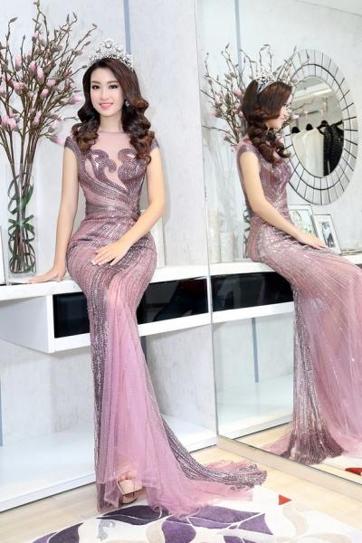 Hoa hậu Mỹ Linh đẹp không tỳ vết 2