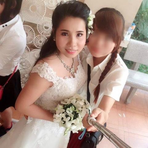 Mới đầu năm 2016, Giang là cô dâu hạnh phúc khi quyết tâm theo chồng về Bình Định. Ảnh: NVCC
