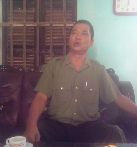 Ông Nguyễn Văn Thắng, Phó CA xã Ngọc Vân trao đổi với PV.