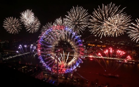 Không khí chào đón năm mới đang đến rất gần.