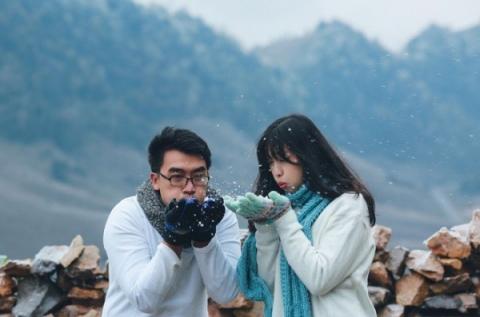 Những cô dâu vai trần thách thức thời tiết giá lạnh để có bộ ảnh cưới nghìn like - Ảnh 9.