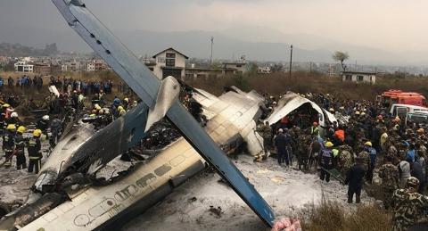 Máy bay hành khách chở 71 người rơi ở Nepal - ảnh 1