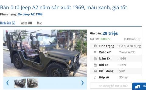 Những chiếc xế cổ rao bán giá rẻ hơn xe máy ở Việt Nam