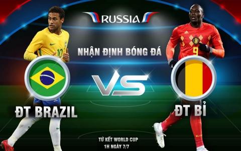 World Cup, Brazil - Bỉ: Neymar đấu Hazard, rực lửa