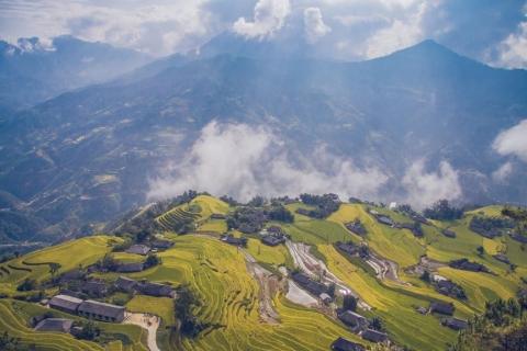 Ngỡ ngàng vẻ đẹp ruộng bậc thang Hoàng Su Phì mùa lúa chín - 1