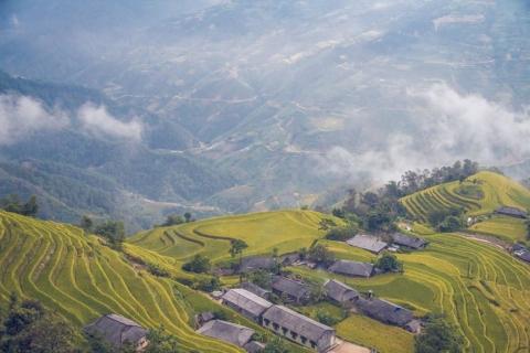 Ngỡ ngàng vẻ đẹp ruộng bậc thang Hoàng Su Phì mùa lúa chín - 7