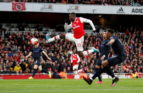 Arsenal 3-2 Everton: Ruot duoi ty so hap dan hinh anh 1 2020_02_23T165836Z_87436628_RC2G6F9MP7IP_RTRMADP_3_SOCCER_ENGLAND_ARS_EVE_REPORT.JPG