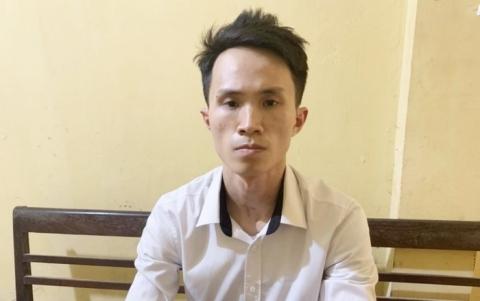 Đối tượng Lê Thành Hưng tại cơ quan điều tra.