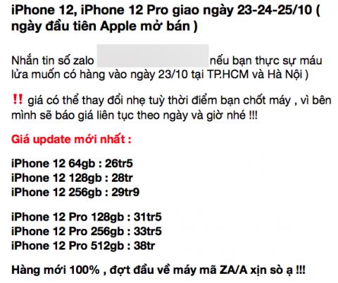 Mất thêm 10 triệu đồng để sở hữu sớm iPhone 12 Pro Max tại Việt Nam - 1