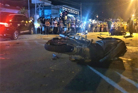 Vụ ô tô điên tông hàng loạt xe máy, 7 người thương vong: Tài xế ô tô vi phạm nồng độ cồn - Ảnh 1.