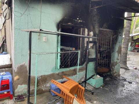 Vụ cháy nhà khiến 6 người tử vong ở TP Thủ Đức là do chập điện xe máy - Ảnh 1.