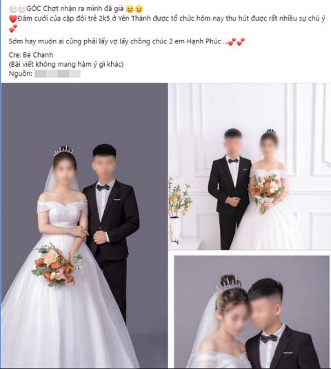 Xôn xao đám cưới của cặp đôi sinh năm 2005 ở Nghệ An: Người thân của cô dâu chú rể tiết lộ bất ngờ - Ảnh 1.