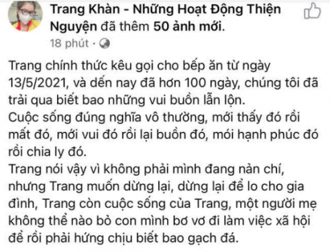 Trang Trần tung sao kê sau tin đồn ăn chặn trăm tỷ, tuyên bố rút lui sau 100 ngày làm thiện nguyện - Ảnh 3.