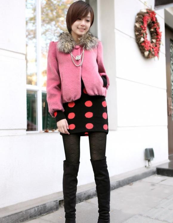Áo khoác lửng trẻ trung mùa đông 2012