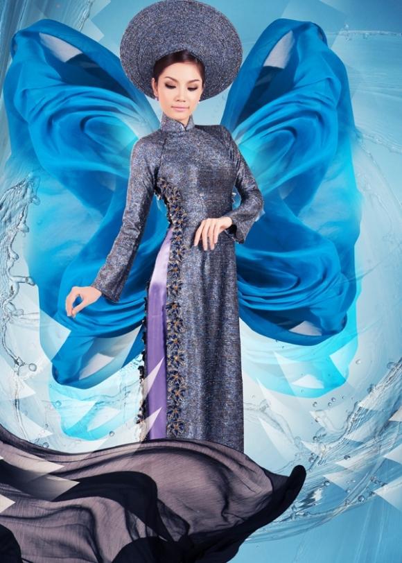 BST áo dài nước của nhà thiết kế Việt Hùng
