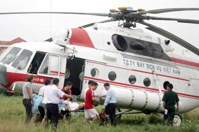 Gặp tai nạn, thuê trực thăng cấp cứu thế nào?