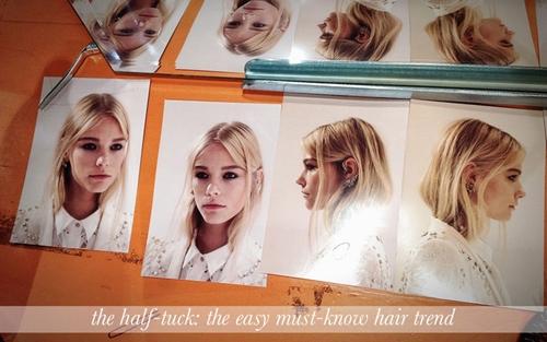 Xu hướng tóc half-tuck lên ngôi mùa thu đông 2012-2013