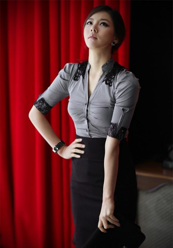 Sơ mi Hàn Quốc thanh lịch Xuân/Hè 2012