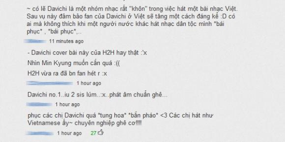 Fan Davichi và Hồ Quỳnh Hương 'khẩu chiến'