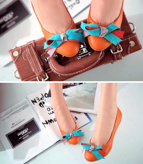Giày búp bê xinh xắn nâng gót teengirl yêu kiều