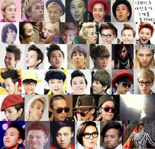 Choáng với 222 kiểu tóc của G-Dragon Big Bang