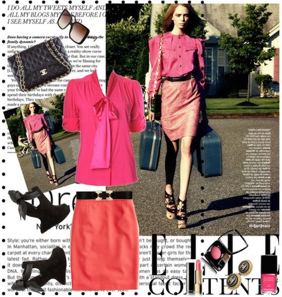 Chân váy bút chì 2012 với những cách mix bắt mắt nơi công sở