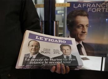 Bầu cử tổng thống Pháp: Hollande, Sarkozy vào vòng 2