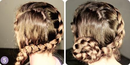 Học cách tết tóc vòng tròn ấn tượng