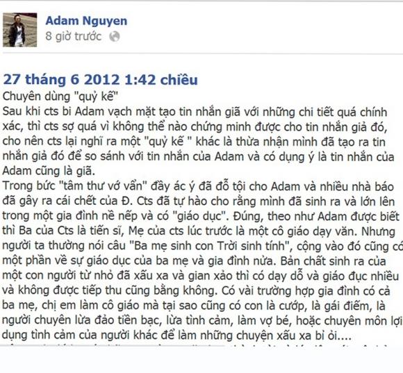Xôn xao Clip Adam Nguyễn 'tố' tin nhắn Cao Thái Sơn nói xấu Khắc Việt