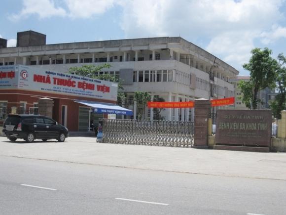 Bệnh viện Đa khoa Hà Tĩnh.      Ảnh: M.T