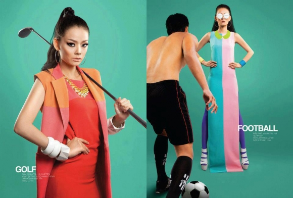 Cặp đôi người mẫu 'so găng' hưởng ứng Olympics London 2012
