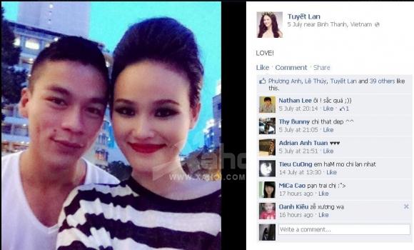 Người mẫu Tuyết Lan công khai người yêu?