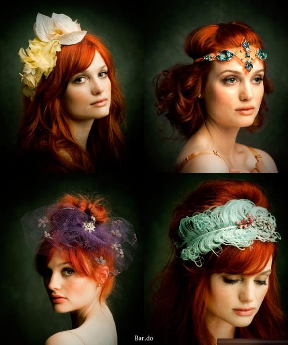 Băng đô cài tóc độc đáo dành cho cô dâu vintage