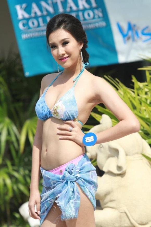 Ngắm thí sinh Hoa hậu Thái Lan khoe dáng bốc lửa với áo tắm