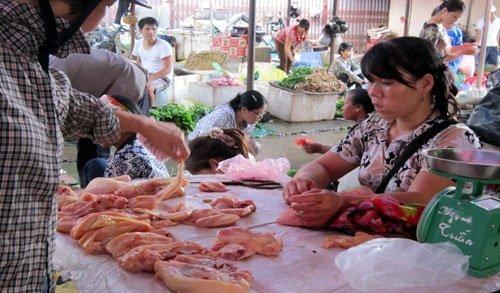 Thịt gà 30.000 đồng/kg lại ồ ạt ra chợ
