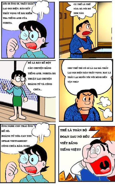 Đôrêmon chế (P11): 'Trình' tiếng Anh của Nobita