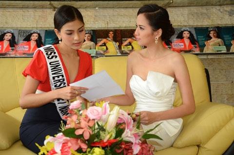 Trương Thị May chăm chút váy áo dự Miss Universe 2013