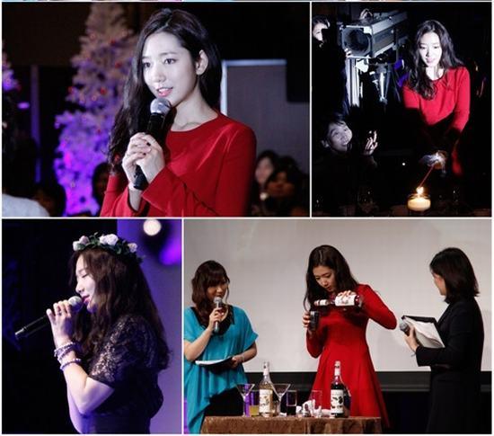 Nữ diễn viên Park Shin Hye cùng fan ăn mừng Noel tại Nhật