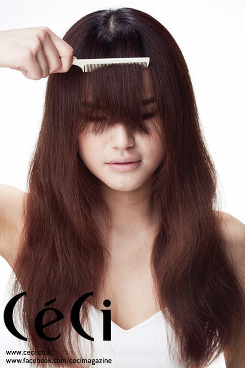 Cách tạo tóc mái lưa thưa tự nhiên quyến rũ như Song Hye Kyo